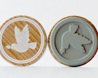 Stamp around Dove of peace