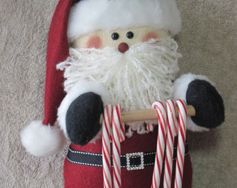 "Santa pattern:  ""Santa Candy Cane Holder"" - #641"