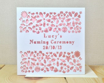 Personalised Naming/Christening Day Card