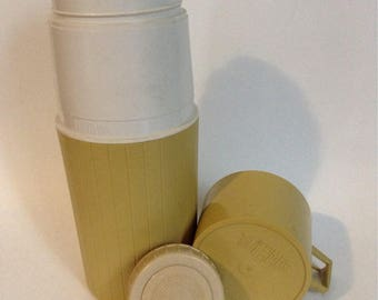 Vintage 1970's Olive Green Thermos Made in Canada