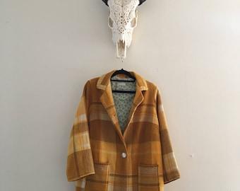 Women's Woollen Mustard Winter Jacket.Size 10 to 14