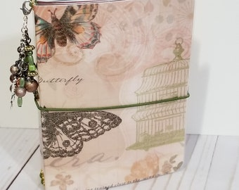 Passport-travelers notebook-laminated-accessories-journal-diary-charm-folder-inserts-fast shipping-Mariposa-DCWV