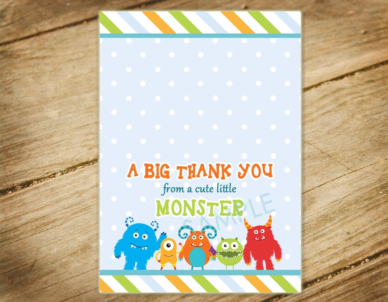 Little Monster Baby Shower Invitation / Monsters Theme