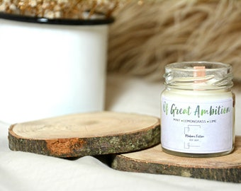 Of Great Ambition - 1.5oz Candle - Hogwarts Inspired - Scented Soy Candle - Book Lover Gift