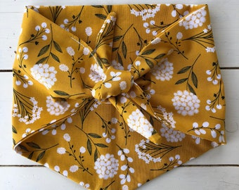 The Cotton Blossoms bandana - yellow, gold, cream floral