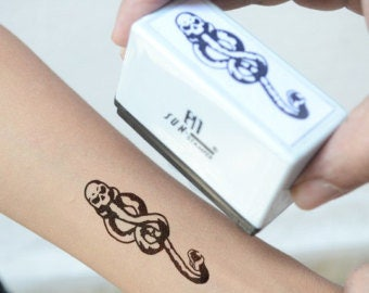 Death Eater Harry Potter Self-Inking Stamp (Temporary Reusable Tattoo)