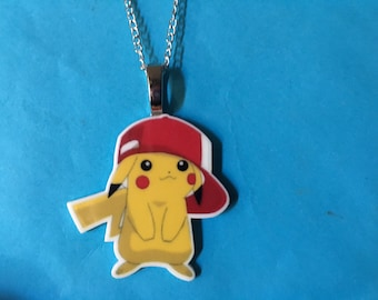 Pikachu Pokemon Necklace O22