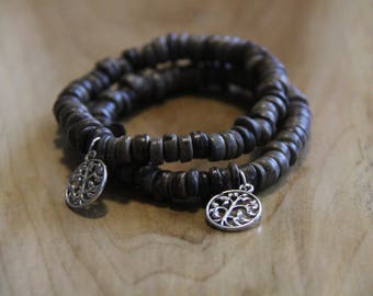 Grey Tree of Life Beaded Bracelets