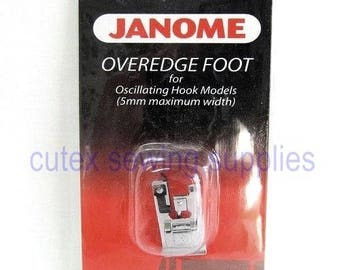 Janome Overedge Foot #200132008 Low Shank Snap-On Presser Foot