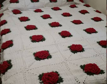 Handmade Vintage Irish Rose Legacy Blanket