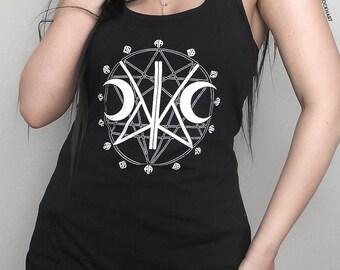 SIGIL OF KADABRA Women's Tank Top, Vest, Super Soft, Screen Printed Tank, witchy, occult, goth, KadabraCult