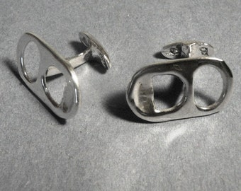 Sterling Silver Ring Pull cufflinks