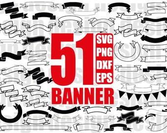 banner svg, label svg ,scroll svg, ribbon banner svg, flag svg, text box svg, clipart, stencil, decal, cut file, iron on, scrapbooking