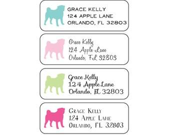 Pug Return Address Labels