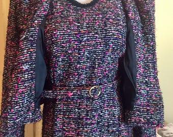 Hand Created Dress W/Crop Jacket & Belt