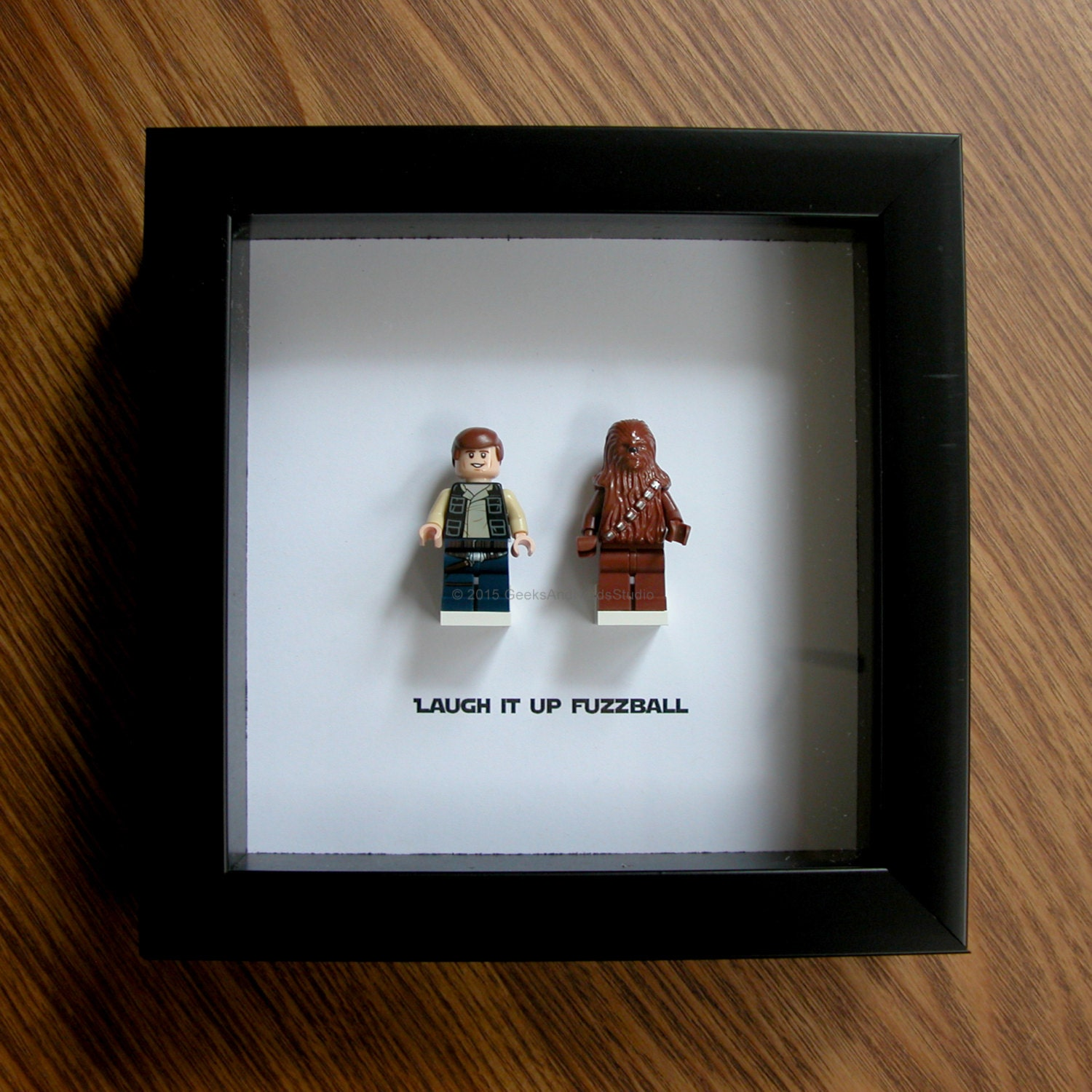 star wars framed art lego han solo chewbacca lego. Black Bedroom Furniture Sets. Home Design Ideas