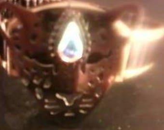 Jeweled leopard bracelet