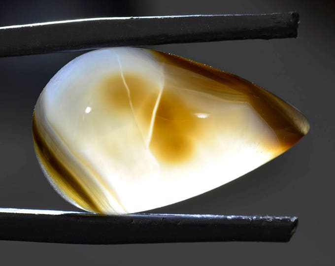 Pretty Black Widow Agate Cabochon from Mexico 15.30 cts.