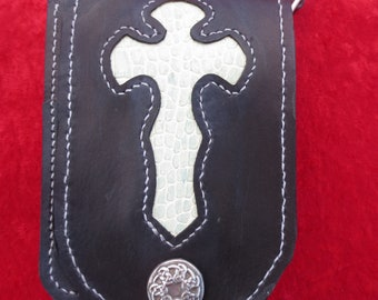 Sling Bag with an Embossed leather Cross