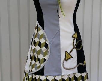 Designer dress grey white and black T 36 38