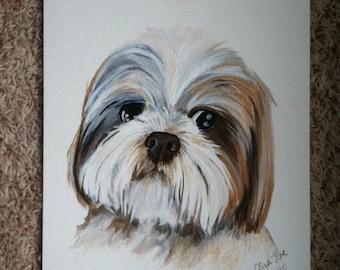 Dog paintings, Custom dog painting, Custom pet portrait, Custom animal art, Custom pet painting, Dog art, Wall art, Unique gift ideas