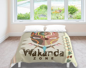 Wakanda Bedding, Black Panther Bedding, Wakanda Decor, Wakanda Gifts, African Design, African Inspired, Wakanda Accessories