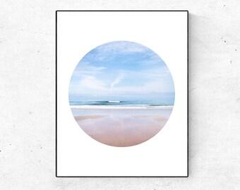 Coastal Decor, Minimalist Print, Living Room Wall Decor, Ocean Art,  Minimal Print, Beach Decor, Office Wall Art, Minimalist Wall Art, Print