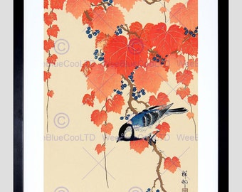 Painting Japan Nature Bird Shoson Ohara Poster Art Print Picture FEBB47B