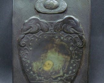"""Fine Old Chinese Ink Stone Carving Ink Slab Marked """"ZuoFengYiCheng"""""""