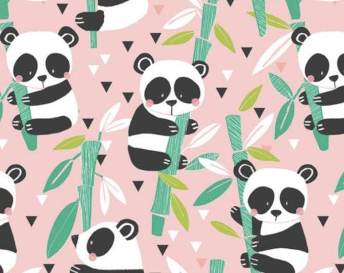 PANDA-RAMA - Bamboo in Pink - Adorable Panda Bear Cotton Quilt Fabric - by Maude Asbury for Blend Fabrics - 101.129.01.2 (W4282)