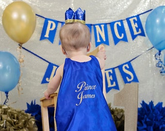 Custom Birthday Prince Cape