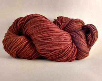 Rust Superwash Sock Yarn