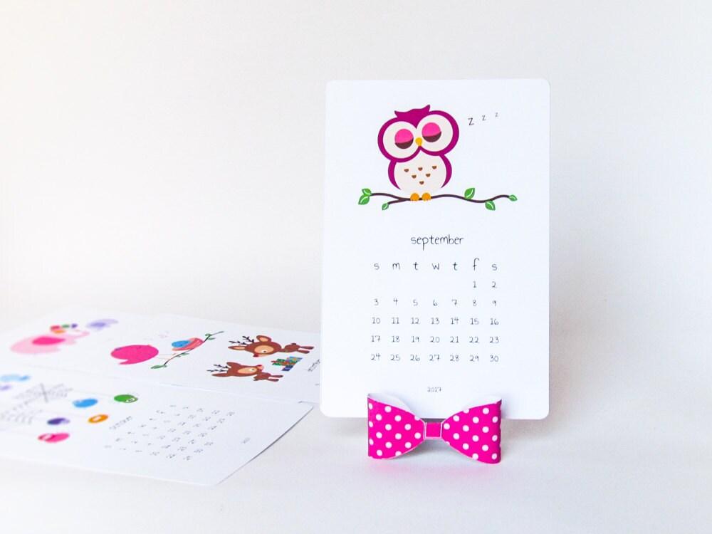 2018 Printable Kids Calendar Diy Animal Calendar Cute