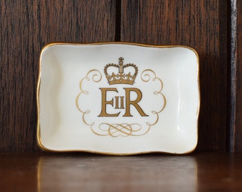 Small Queen Elizabeth II Coronation Pin or Ring Dish