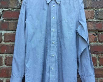 Vintage Lacoste Long Sleeve Striped Shirt Size 39