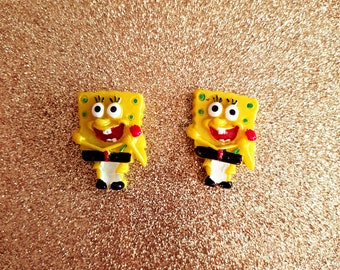 2 Yellow Sponge Cabochon Decoden Kawaii Craft