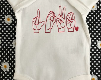 Love Sign Language Onesie