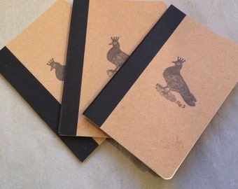hand stamped little notebook