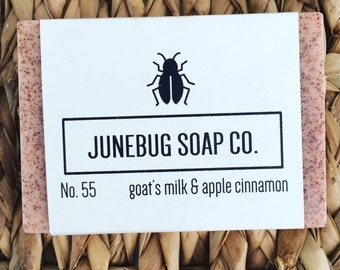 3 PACK: Goat's Milk & Apple Cinnamon Bar Soap - Natural Soap, Goat's Milk Soap, Handmade Soap, Cinnamon, Goat Milk Soap, Homemade Soap