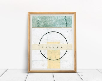 Art print, ERRATA, collage art