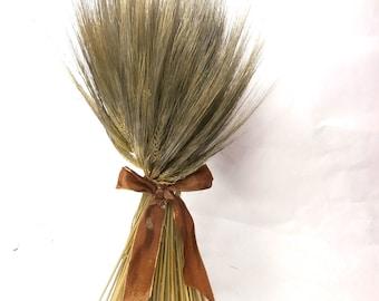 Natural Dried Wheat Sheaf, Free Standing Sheaf Dried Bouquet, Dried Wheat Arrangement, Fall Floral Decor, Wheat Sheaf, Rustic Home Decor