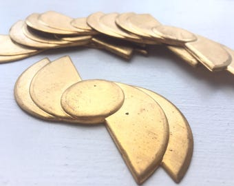Item 1001 Huge 73 MM X 36 MM Art Deco Brass Stamping No Holes