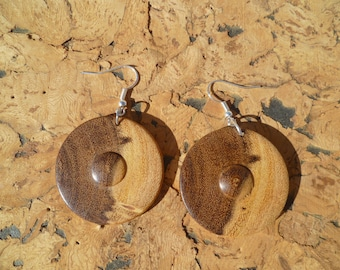 Earrings in acacia African boaca2