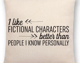 Bookish Cushion   Fictional Characters