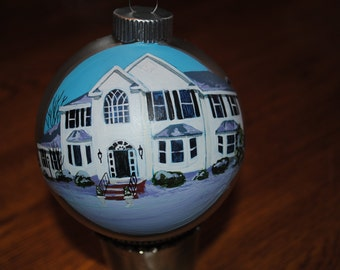 Custom Hand Painted Home Ornament - sold