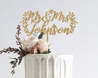Custom Mr and Mrs Cake Topper, Wedding Cake Toppers, Cake Topper Wedding, Rustic Cake Topper, Wedding Decor, Mr and Mrs, Mr and Mrs Sign