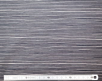 Stripes printed jersey fabric