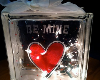 Night Light Heart Love Hand Etched Painted Romantic Special Lighting