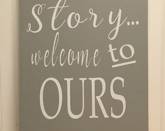 Every Family has a story wall plague 16x36