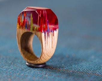 RedFog wood and resin ring